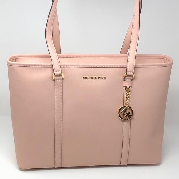 66f0a87d42a0 Michael Kors Bags | Nwt Sady Large Laptop Bag Pastel Pink | Poshmark